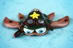 Fimo Turtle One Star General Air Force ornament by Onlymiracles, €8.00