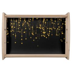 Golden Stars Serving Tray - home gifts ideas decor special unique custom individual customized individualized