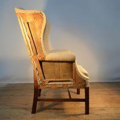 english wing chair photo angle 3