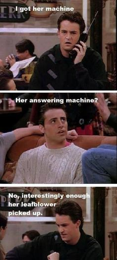 Friends: Chandler and Joey