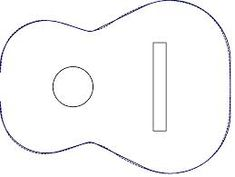 Acoustic guitar templates for cake recipes for Guitar templates for cakes