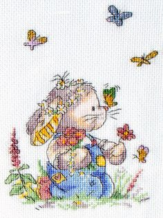 Somebunny to Love Butterfly Summer The World of Cross Stitching Issue 150 May 2009 Saved