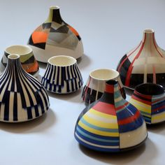Brightly patterned ceramic design inspired by pop-fashion