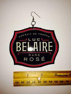 Belaire Earrings Rare Roses, Custom Earrings