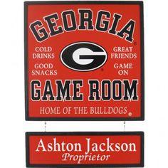 Georgia Bulldogs Plaque Personalized