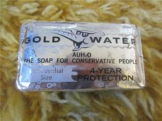 Gold Water The Soap for comservative people