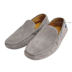 546dd1fcf1 Light Grey Suede Mens Driving Shoes from Arthur Knight