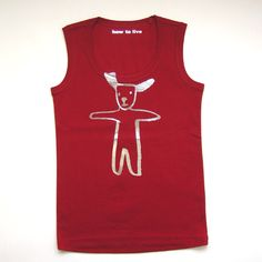 Fun T-Shirts: Tank Top -Jumping Dog- | Collection | how to live | ハウ トゥ リヴ