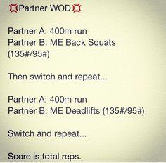 Partner WOD #crossfit #wod