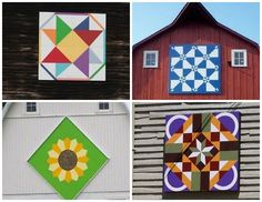 pattern for a 4 by 4 barn quilts - Google Search