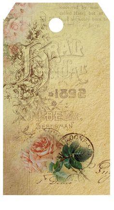 Astrid's Artistic Efforts: My little gift to you Images Vintage, Vintage Tags, Vintage Labels, Vintage Ephemera, Vintage Pictures, Vintage Postcards, Vintage Stuff, French Flowers, Vintage Flowers