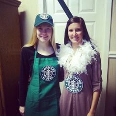 Starbucks Barista and Drink costumes!