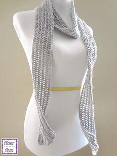 Fiber Flux: Free Crochet Pattern...Silver Dollar Skinny Scarf!