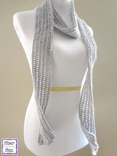 Fiber Flux...Adventures in Stitching: Free Crochet Pattern...Silver Dollar Skinny Scarf!...