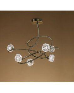 Lámpara de techo 6l Maremagnum 4071 cuero de Mantra