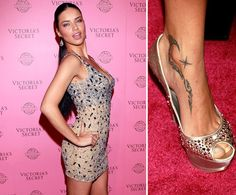 Pin for Later: The Ultimate Celebrity Tattoo Gallery Adriana Lima Adriana Lima has a tribal design and shooting star tattooed on the inside of her right ankle.