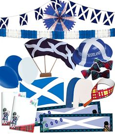 A St Andrew themed party pack provides ideal decorations for those holding a Burns Night party