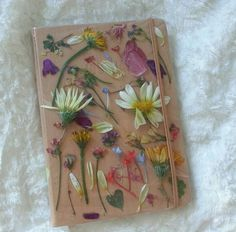 Pressed flower cover for journal