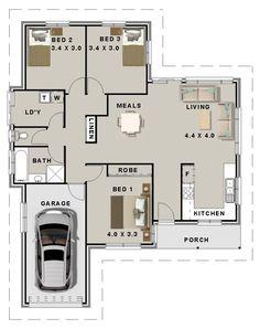 73 Best 3 Bedroom House plans images in 2019 | Bedroom size ...