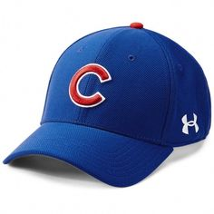 Chicago Cubs Adjustable Blitzing Youth Cap by Under Armour Fsu Baseball Schedule, Baseball Scores, Chicago Cubs Baseball, Tigers Baseball, Baseball Helmet, Baseball Gifts, Baseball Caps, Under Armour, National League