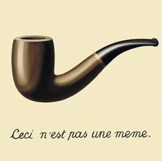 """""""The Treachery of Images"""" is a painting by the Belgian René Magritte, painted when Magritte was 30 years old. The picture shows a pipe. Below it, Magritte painted, """"Ceci n'est pas une pipe."""", French for """"This is not a pipe. Rene Magritte, Artist Magritte, Centre Pompidou Paris, 404 Pages, Most Famous Paintings, Famous Art, Art Terms, Caravaggio, Canvas Prints"""