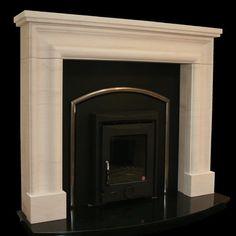 Portuguese limestone with insert stove. Insert Stove, Stove Fireplace, Stoves, Portuguese, Fireplaces, Restoration, King, Antiques, Home Decor