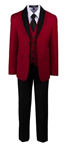 Tuxgear Boys Slim Fitting Five Piece Red Dinner Suit with Removable Lapels Red Tuxedo, Tuxedo Suit, Dinner Suit, Dinner Jacket, Red Suit, Suit And Tie, Red And White Outfits, Stylish Outfits, Swag Outfits
