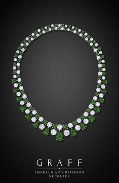 https://www.bkgjewelry.com/ruby-rings/139-18k-yellow-gold-diamond-ruby-ring.html Graff Diamonds: Emerald and Diamond Necklace♥•♥•♥