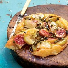This apple and fig tarte tatin is a real showstopper. Topped with non-pareille capers and caperberries with figs and honey and served with yoghurt or creme fraiche. oh my god! Pavlova, Cheesecakes, Woolworths Food, Butter Puff Pastry, Kinds Of Desserts, Cupcakes, Sweet Pie, Appetisers, Light Recipes