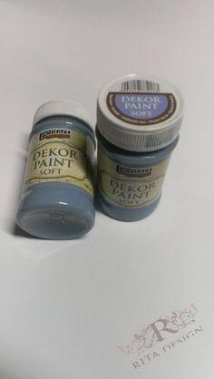Barva Decor paint soft 100ml - MODRÝ LEN