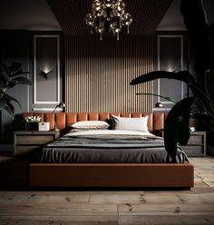 Modern Bedroom at VWArtclub Men's Bedroom Design, Hotel Room Design, Master Bedroom Interior, Modern Master Bedroom, Home Bedroom, Modern Luxury Bedroom, Modern Classic Bedroom, Home Music, Luxurious Bedrooms