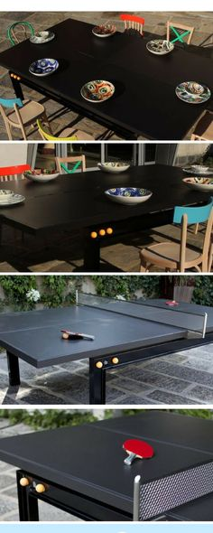 A Design Table Where To Eat And Play: Ping Pong Table Design, Ping Pong