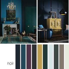 4 Color Trends For Interiors 2017 - Noir - Dark & Moody