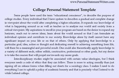 best personal statements college