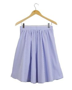 Joyce Striped Pintuck Skirt