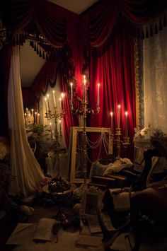 """lolita home decor inspo: patrician edition - """"/cgl/ - Cosplay & EGL"""" is imageboard for the discussion of cosplay, elegant gothic lolita (EGL), and anime conventions. Gothic Interior, Gothic Home Decor, Victorian Gothic Decor, Gothic Aesthetic, Red Rooms, Gothic House, Home And Deco, My New Room, Pictures"""