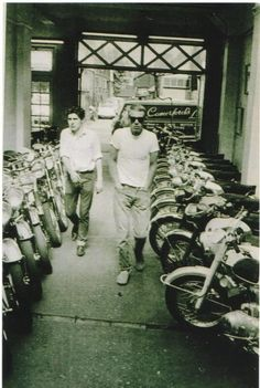 McQueen - shopping for his favourite bike....I have been to this shop many times!