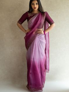 Designer sarees are such that are loved by every age woman, be it a college going girl, a newly wed, a working professional or an old age la. Trendy Sarees, Stylish Sarees, Fancy Sarees, Party Wear Sarees, Stylish Blouse Design, Fancy Blouse Designs, Blouse Neck Designs, Indian Gowns Dresses, Ladies Dresses