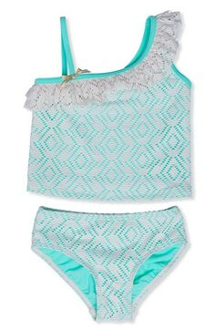 a79fa144e41ef Hula Star Crochet One-Shoulder Two-Piece Swimsuit (Toddler Girls & Little  Girls) | Nordstrom