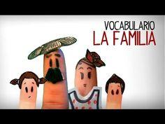 La familia en español, aprender vocabulario español - YouTube