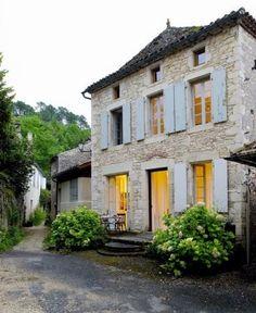 19th Century French stone house.  via www.french-property.com via Tumblr