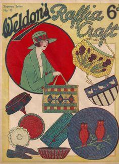 Vintage Weldon's Raffia Craft Pattern Book