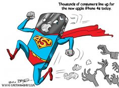 iPhone 4s Takes off Today – New Iphone 4 Cartoon
