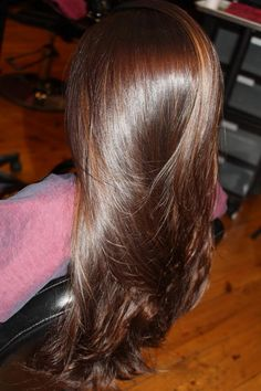 Chocolate brown hair perfect for fall