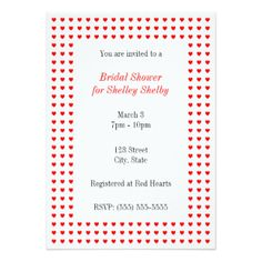 5 x 7 Inch Bridal Shower Invitations