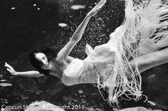 Bride underwater