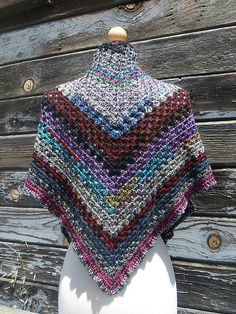 Rag  Picker's Wife Shawl - crochet