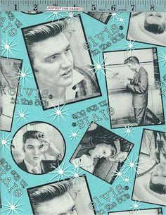 Elvis Retro 1950's, Licensed to VIP, Elvis Presley Fabrics, Ladybutton Fabrics