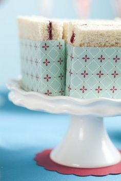 Jam Sandwiches - How-To Make and Visual Inspiration. My current fav colors used here, aqua and red.