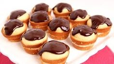 Boston Cream Cupcakes Recipe - Laura in the Kitchen - Internet Cooking Show Starring Laura Vitale